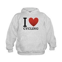 I Love Cycling Hoodie