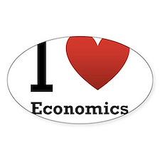 I Love Economics Decal