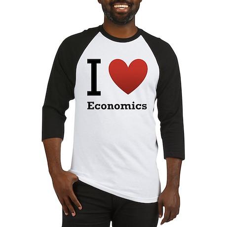 I Love Economics Baseball Jersey