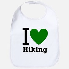 I Love Hiking Green Bib