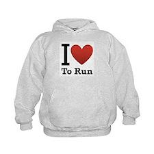 I Love to Run Hoodie