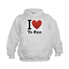I Love to Run Hoody