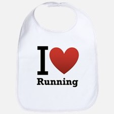 I Love Running Bib