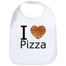 I Heart Pizza Bib