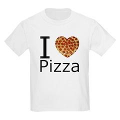 I Heart Pizza Kids Light T-Shirt
