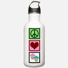 Peace Love Cupcakes Water Bottle