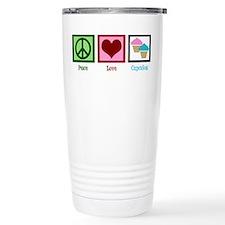 Peace Love Cupcakes Travel Mug