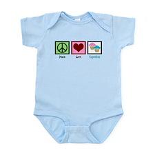 Peace Love Cupcakes Infant Bodysuit