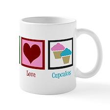 Peace Love Cupcakes Mug
