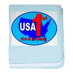 USA First In Everything baby blanket