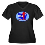 USA First In Everything Women's Plus Size V-Neck D