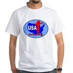 USA First In Everything White T-Shirt
