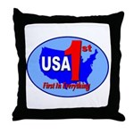USA First In Everything Throw Pillow