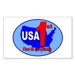 USA First In Everything Sticker (Rectangle 10 pk)