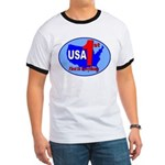 USA First In Everything Ringer T