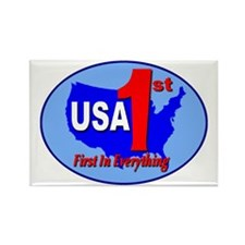 USA First In Everything Rectangle Magnet