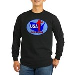 USA First In Everything Long Sleeve Dark T-Shirt