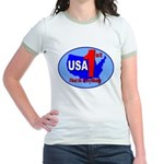 USA First In Everything Jr. Ringer T-Shirt