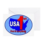 USA First In Everything Greeting Cards (Pk of 10)