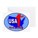 USA First In Everything Greeting Card
