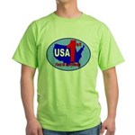 USA First In Everything Green T-Shirt