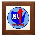 USA First In Everything Framed Tile