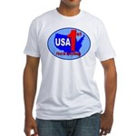 USA First In Everything Fitted T-Shirt