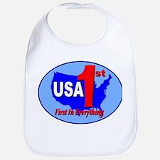 USA First In Everything Bib