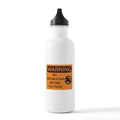 No Republicans Water Bottle