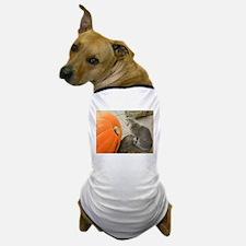 Cat Dreaming of Pumpkin Pie Dog T-Shirt