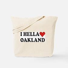 I Hella (Heart) Oakland Tote Bag