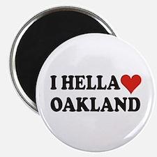 I Hella (Heart) Oakland Magnet