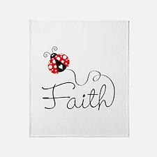 Ladybug Faith Throw Blanket