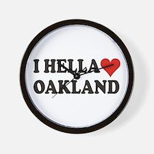 I Hella (Heart) Oakland Wall Clock