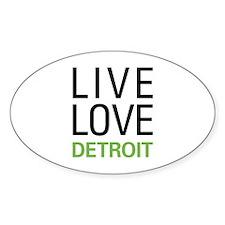 Live Love Detroit Decal
