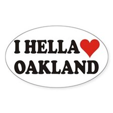 I Hella (Heart) Oakland Oval Decal