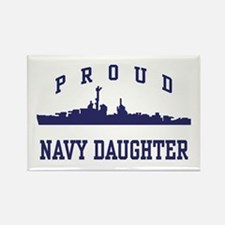 Proud Navy Daughter Rectangle Magnet