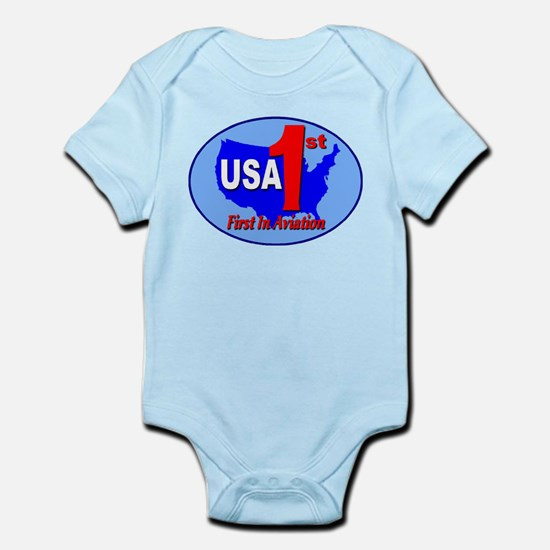 USA First In Aviation Infant Bodysuit