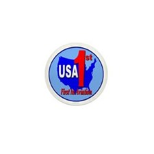 USA First In Aviation Mini Button