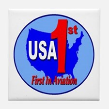USA First In Aviation Tile Coaster