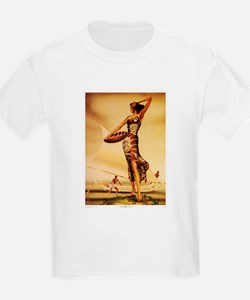 'Hawaiian Woman with Fish' Kids T-Shirt