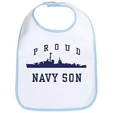Proud Navy Son Bib