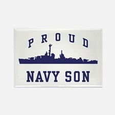 Proud Navy Son Rectangle Magnet