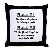 Boat Captain Throw Pillow