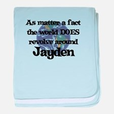 World Revolves Around Jayden baby blanket