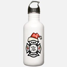 Firefighter Santa Water Bottle