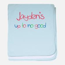 Jayden's Up To No Good baby blanket