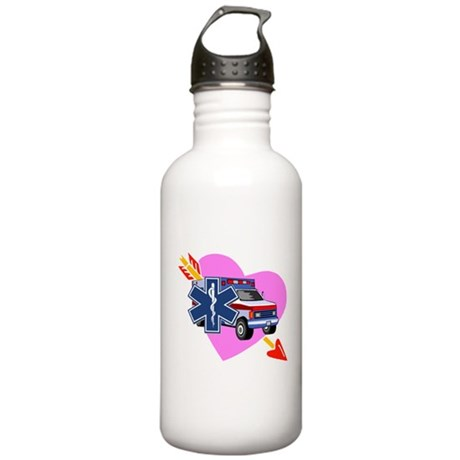 EMS Care Heart Stainless Water Bottle 1.0L