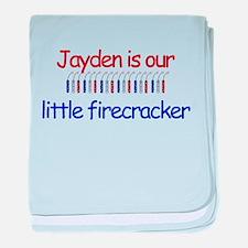 Jayden Firecracker baby blanket
