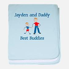 Jayden & Daddy - Best Buddies baby blanket